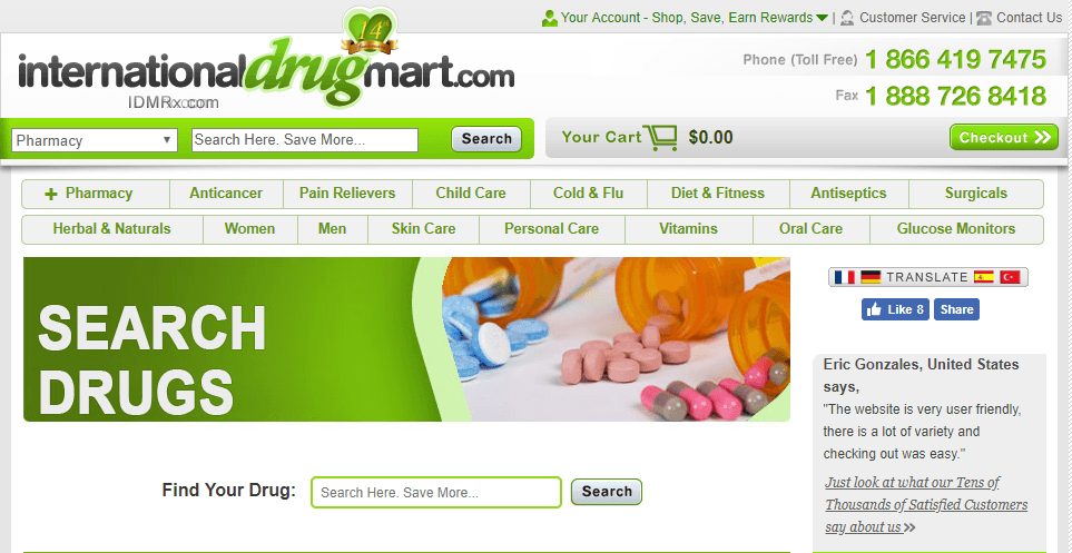 International Drug Mart: Online Foreign Pharmacy with Inconsistent Quality of Services Offered
