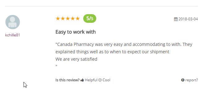 Canadian Pharmacies User Testimonial