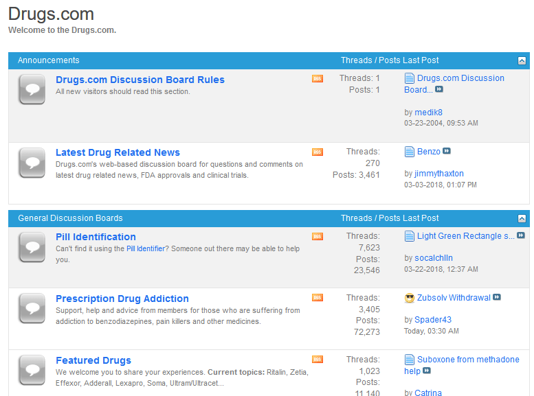 Forums Mediated by Drugs