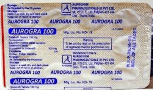 Aurogra 100 Mg Prices