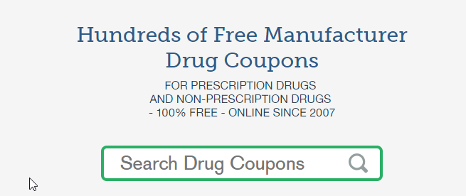 Drug Manufacturer Coupons