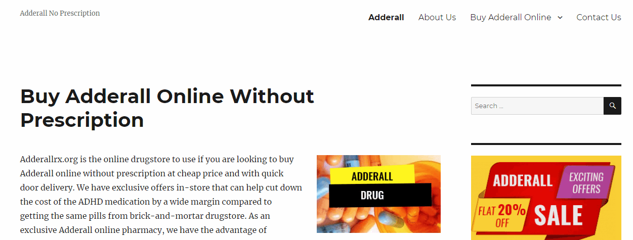 Adderall Rx Homepage