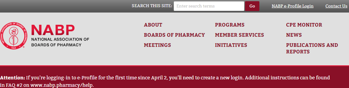 National Association of Boards of Pharmacies Front