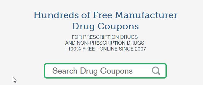 Drug Manufacturer Coupons