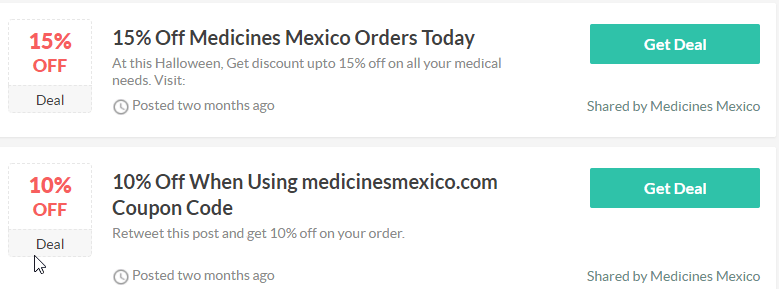 Mexican Online Pharmacy Coupons