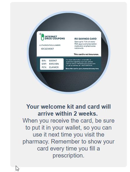 Internet Drug Coupons Card