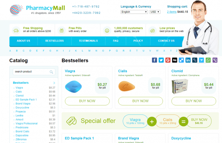 Discount on Line Pharmacy